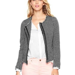 GAP Raw Hem Tweed Jacket